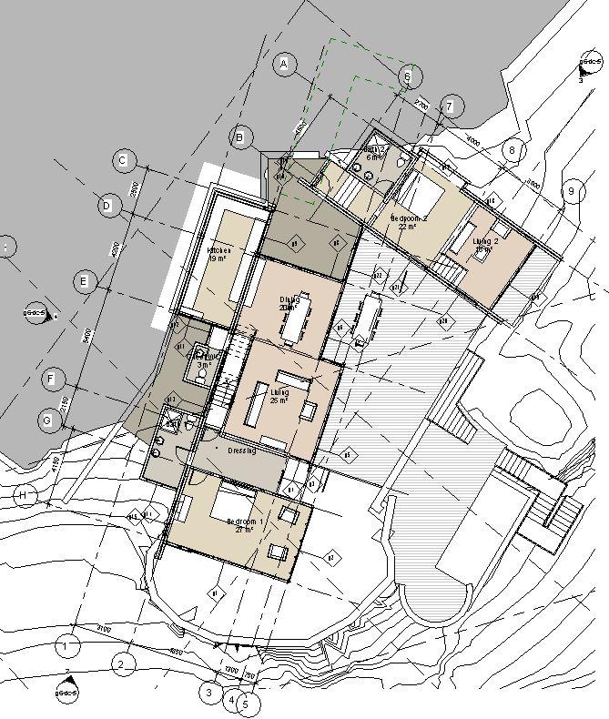 False bay beach house sdks architects for Castle rock floor plans